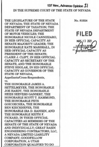 First page of the Nevada Supreme Court decision 21-13709